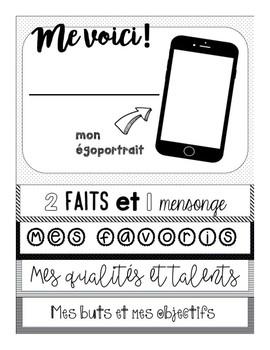 Me voici! FRENCH all about me flipbook-Livret à cachettes pour la rentrée