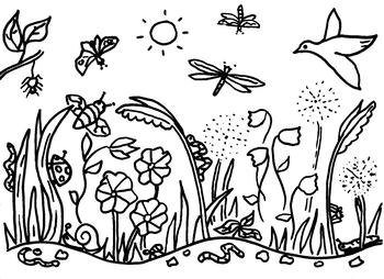 Meadow Coloring Sheet