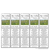 Meadow Song from Hunger Games Trilogy - FREE Bookmarks
