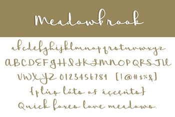 Meadowbrook Font for Commercial Use
