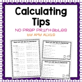Calculating Tips NO PREP Printable