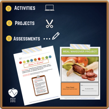 Meal Makeover- Nutrition Mini-Unit / Project- Health or Family Consumer Science