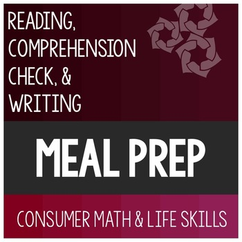 Meal Preparation Article- Consumer Math Special Education
