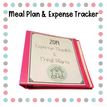 Meal Plan and Expense Tracker Binder