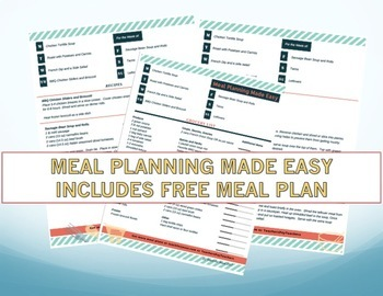 Grocery List and Meal Plan for 6 Meals
