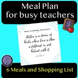 Meal Plan for Busy Teachers - Free Gift to say Thank You!