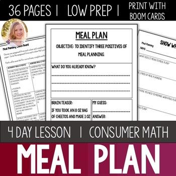 Meal Preparation Bundle- High School Special Education