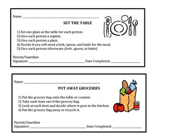 Meal Preparation Task Analysis I and II Homework Coupons