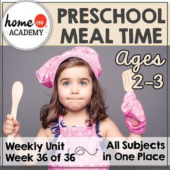 Meal Time Preschool Unit - Printables for Preschool, PreK, Homeschool Preschool