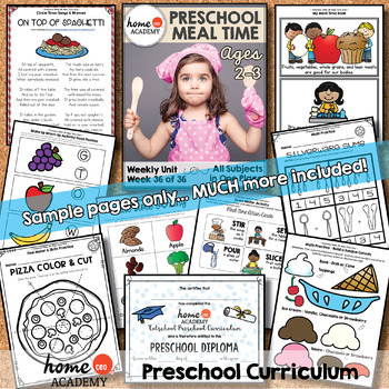 Totschool Week 36 - Mealtime (Preschool Homeschool Distance Learning)