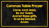 Mealtime Prayers Chalkboard Neon Theme