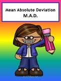 Mean Absolute Deviation No Prep Lesson