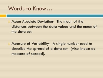 Mean Absolute Deviation:A Step by Step Presentation with Practice Problems