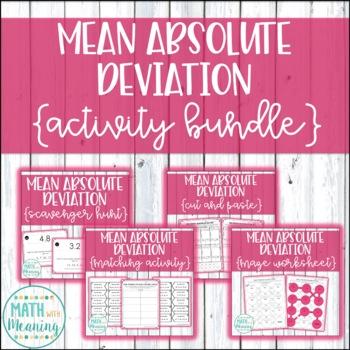 Mean Absolute Deviation Activity Mini-Bundle