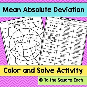 Mean Absolute Deviation Color and Solve