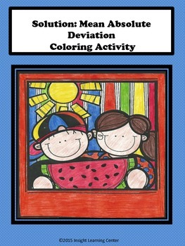 Mean Absolute Deviation Coloring Activity