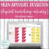 Mean Absolute Deviation DIGITAL Matching Activity for Google Drive™