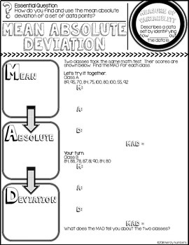 Mean Absolute Deviation Discover & Doodle