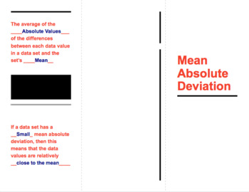 Mean Absolute Deviation Foldable with key