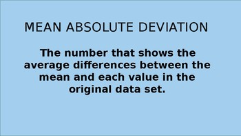 Mean Absolute Deviation Instructional PowerPoint