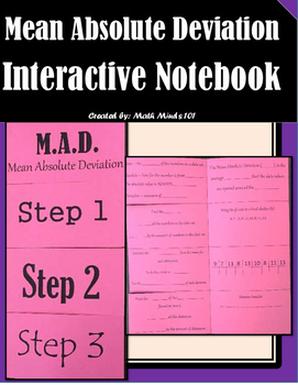 Mean Absolute Deviation - Interactive Notebook (MAD)