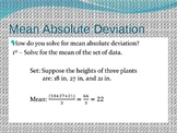 Mean Absolute Deviation Lesson PowerPoint