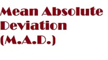 Mean Absolute Deviation MAD Common Core Grade 6 Math