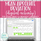 Mean Absolute Deviation (MAD) DIGITAL Activity for Google Drive & OneDrive