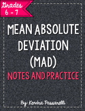 Mean Absolute Deviation {MAD} Notes and Practice