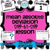 Mean Absolute Deviation (MAD) Lesson Step-by-Step: 7.SP.3