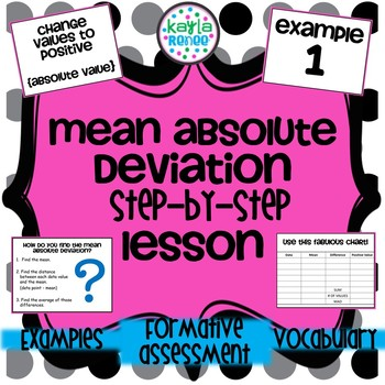 Mean Absolute Deviation Mad Lesson Step By Step 7sp3 By Kayla