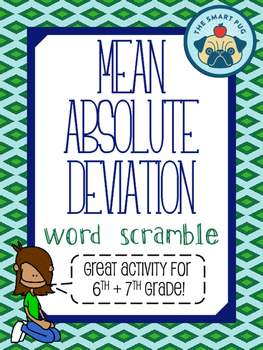 Mean Absolute Deviation (M.A.D) - Word Scramble Activity