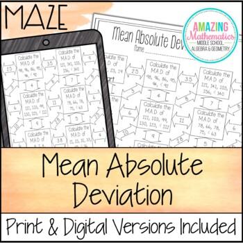Mean Absolute Deviation Maze by Amazing Mathematics | Teachers Pay ...