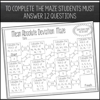 Mean Absolute Deviation Maze by Amazing Mathematics | TpT