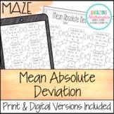 Mean Absolute Deviation Worksheet - Maze Activity