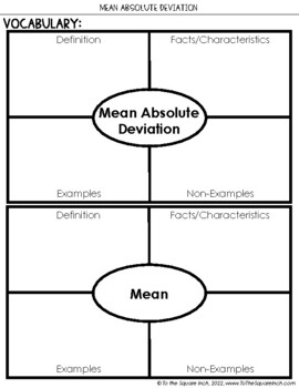 Mean Absolute Deviation Notes