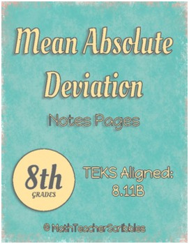 Mean Absolute Deviation Notes Pages Bundle