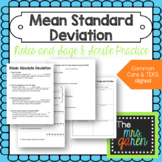 Mean Absolute Deviation Notes and Practice