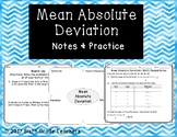 Mean Absolute Deviation Notes and Practice Resources