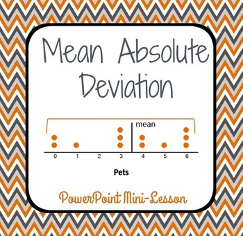 Mean Absolute Deviation - PowerPoint Mini Lesson Introduction