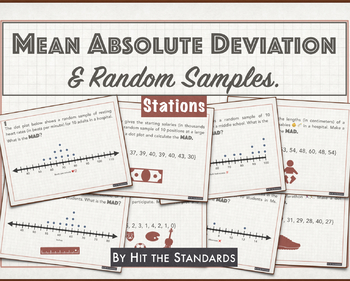 Mean Absolute Deviation & Random Samples STATIONS