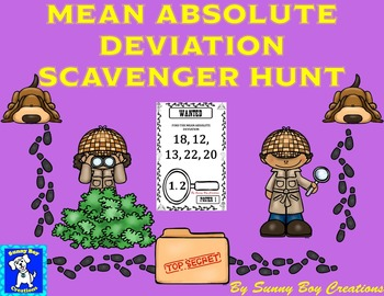Mean Absolute Deviation Scavenger Hunt