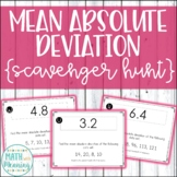 Mean Absolute Deviation Scavenger Hunt - CCSS 6.SP.B.5.C
