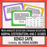 Mean Absolute Deviation, Standard Deviation, Variance, Z-Scores: Bingo Game
