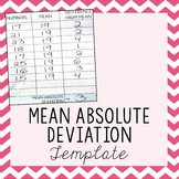 Mean Absolute Deviation Template