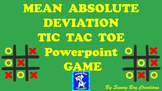 Mean Absolute Deviation Tic Tac Toe Powerpoint Game