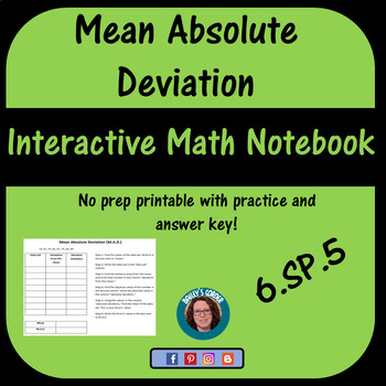 Mean Absolute Deviation for Interactive Math Notebook