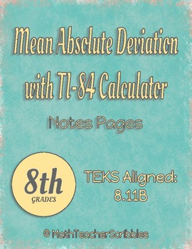 Mean Absolute Deviation with TI-84 Calculator and Practice
