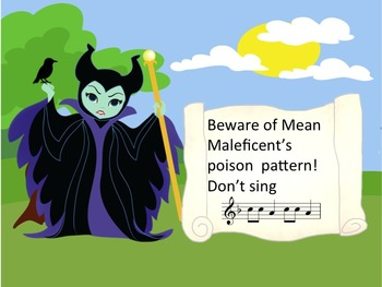 Mean Maleficent's Poison Pattern - A Game for Practicing So and Mi