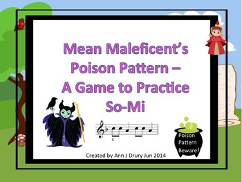 Mean Maleficent's Poison Pattern - A Game for Practicing S